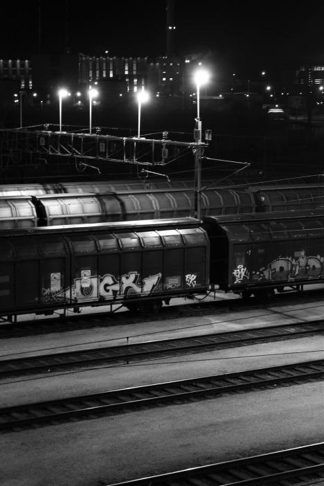 Svartvitt_Tåg